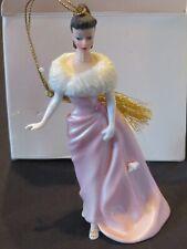 Lenox 1st Barbie Christmas Ornament 2002 Enchanted Evening Brunette Mattel w/Box