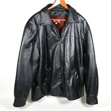 M Julian Wilsons Mens Leather Jacket Size Large Black with Liner 100% leather