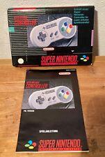 SNES - Super Nintendo System - Controller, BOX, OVP+ MANUAL, Anleitung
