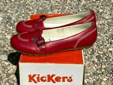 Chaussures plates et ballerines rouges pour femme, cuir