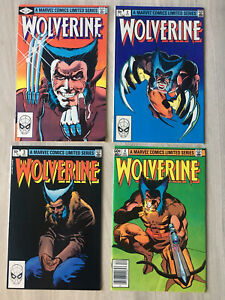 Wolverine 1 2 3 4 1982 Complete Limited Series Claremont Miller See Photos