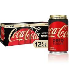 New!!! 12pk Coke Caffeine Free Zero Sugar 2021 Coca Cola **FAST FREE SHIPPING**