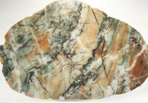 """LimeKiln Creek California Brecciated Jasper Slab A Grade 6""""X4""""X3/8"""" 301 Grams"""