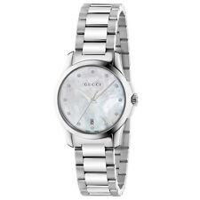 New Gucci G-Timeless Mother of Pearl Diamond Women's Watch YA126542