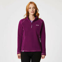 Regatta Womens Kenger Half Zip Fleece Top Purple Sports Outdoors Breathable
