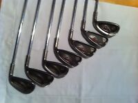 Ping G10 Golf Clubs. 7 clubs.  Steel shafts