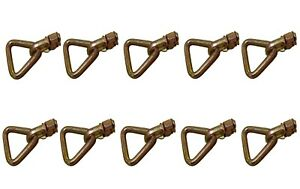 L Track Stud,Double Stud Fitting with Delta Ring -B/S 5000 lbs - 10 Packs