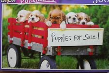 New 300 Piece Jigsaw Puzzle (Puppies For Sale in Wagon) Animals Puzzlebug
