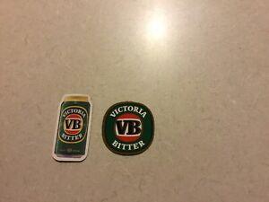 2 VB Victoria Bitter Mini Fridge Magnets.