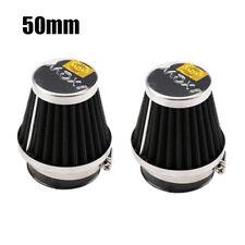 2x Air Filters Pod Cleaners Cold Intake 50mm Cone for KTM Suzuki Yamaha Kawasak
