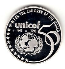 AV-VD Belgien 1996 5 ECU 50 Jahre Unicef Silber + Zertifikat LB10