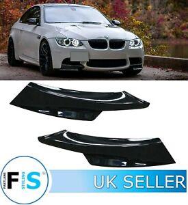BMW 3 SERIES E92 E93 M-PERFORMANCE FRONT LIP COLLARS CORNER SPLITTER GLOSS BLACK