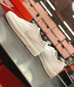 Nike Blazer Slip Women's Sneakers White Leather CJ1651-100 US 6~8 Was $80 NEW