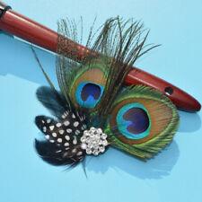 Peacock Feather Hair Clip Wedding  Flower Fascinator Hair Accessory Charming