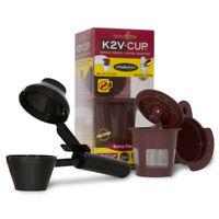 2-Item K2V Reusable Filter K-Cup Converter Adapter+Coffee Scoop for Keurig Vue