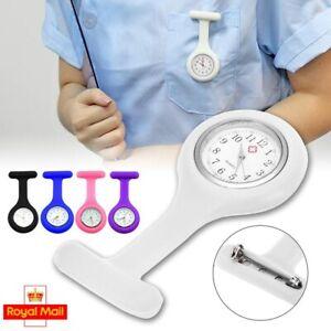 Silicone Nurse Watch Brooch Fob Pocket Tunic Quartz Movement Pin Medical Watch