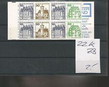 MRW 69191/ MH BOOKLET Deutschland ** MNH Nr. 22 K ZB
