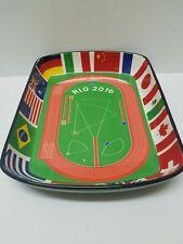 New ListingRio 2016 Olympics Brazil Souvenir Ceramic Soccer Field Countries FlagsTray Dish
