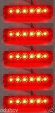 5 pièces 12V SMD LED ROUGE Arrière Feux de position pour DAF MAN VOLVO IVECO