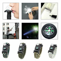 Compass Tool Emergency 20 in 1 Survival Paracord Bracelet Camouflage SOS Gift