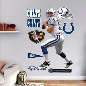 """Andrew Luck Away FATHEAD Lifesize 3'7"""" x 6'4"""" REAL BIG +Colts Logos/Extras +MORE"""
