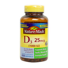 Nature Made Vitamin D3 1000 IU - 650 Softgels, Clearance for exp date 10/2020