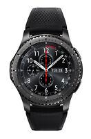 Samsung Gear S3 frontier Edelstahl Gehäuse Schwarz Schwarz Silikon Sportarmband