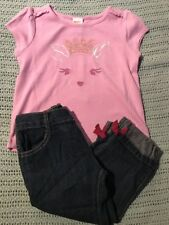Gymboree Girls Sequin Deer Denim Jeans Pants 12-18 Months NWT GYM3