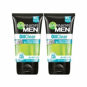 Garnier Men Oil Clear Face Wash Clay DTox Deep Cleansing Icy Face Wash Free Ship