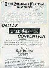 Dark Shadows Dallas Texas Convention Rare Original 1984 Press Material