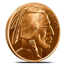 Lot/Tube of 20 - 1 oz Copper Rounds Buffalo Nickel