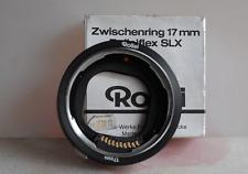 ROLLEIFLEX SLX/6000 tra RING 17mm per primi piani