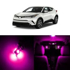 10 x Ultra Pink LED Interior Lights Kit For 2018 and Up Toyota C-HR CHR + TOOL