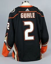 2019-20 Brendan Guhle Anaheim Ducks Game Worn Home Black Jersey Set 1