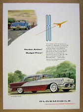 1956 Oldsmobile Olds 88 Holiday Coupe color illustration art vintage print Ad