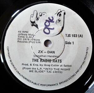 """RADIO RATS Zx Dan VINYL 45 Junkshop Glam Power Pop Rock Punk RARE 7"""" Record 1978"""