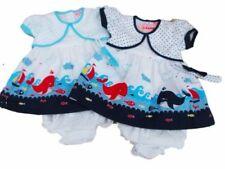 Vestidos azules de poliéster para niñas de 0 a 24 meses