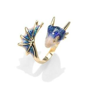 Gold Topaz Dragon Ring Lucky Fingere Pet NZ
