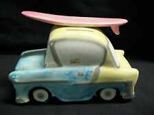 Vintage Andrea by sadek Ceramic Surfers Beach Car Coin Bank NEW!