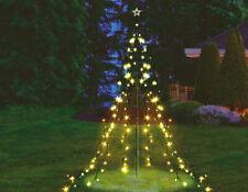 Metall Lichterpyramide - 200 LED / 2,2m - Deko Lichter Baum Außen Weihnachtsbaum