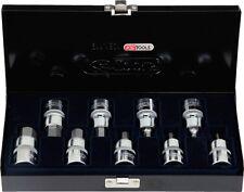 "Ks Tools 1/2"" Chromeplus Poco Juego Allen, 9 Piezas 4-17mm, Corto"