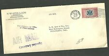 N.W. Ayer & Son Air Mail Cover Sent From Chicago Illinois to Philadelphia P.A.