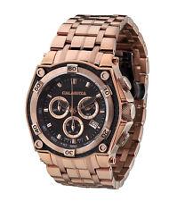 CALABRIA - MEZZANOTTE - Rose Gold Chronograph Men's Watch w Carbon Fiber Bezel