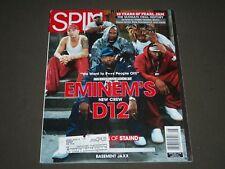 2001 AUGUST SPIN MAGAZINE - EMINEM - D12 FRONT COVER - K 1164