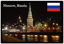 MOSCOW AT NIGHT, RUSSIA - SOUVENIR NOVELTY FRIDGE MAGNET - BRAND NEW