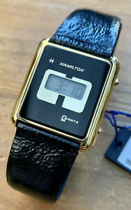 Vintage 1970's Men's *New Old Stock* The First HAMILTON LCD watch! LCQ 1. Rare.