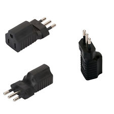 Italy To US USA AC Power 3 Round Pin Wall Plug Travel Charger Adapter Converter
