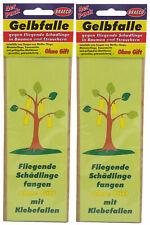 8 x Gelbfalle gegen fliegende Schädlinge in Bäumen, Gelbsticker, Leimfalle
