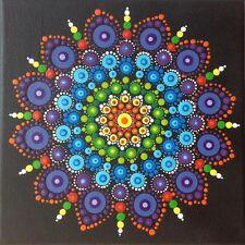 """Mandala """"Awakening"""" Healing Canvas - Hand Painted In Australia"""