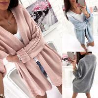 Women's Knitwear Knitted Cardigan Sweater Outwear Coat Jacket Casual Long Sleeve